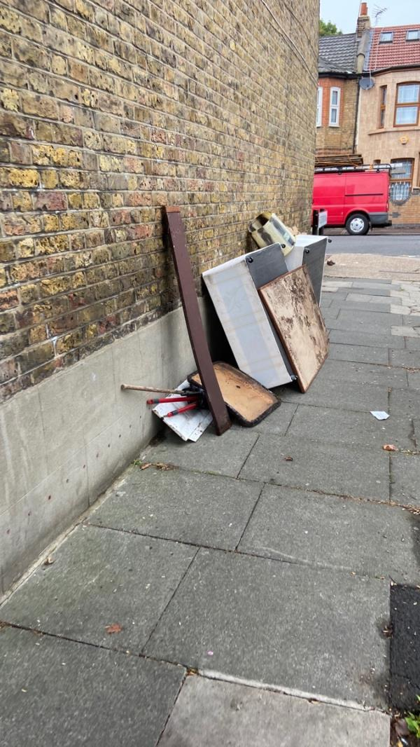 More dumped stuff cctv needed repeat dumping-35 Eversleigh Road, East Ham, E6 1HG