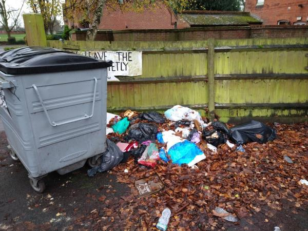 rubbish and litter dropped in PCC car park.-Park Community Hall London Road, Reading, RG1 3PA