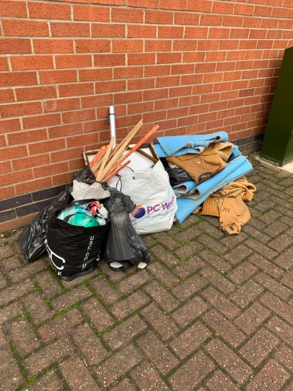 Fly tipping Ross Walk opposite Fashion Stitch-3 Abbey Park Street, Leicester, LE4 5GF