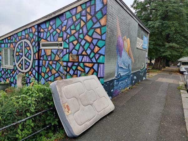 Mattress dumped on Inglemere road, please remove.-Inglemere Road Clubroom Inglemere Road, London, SE23 2BA