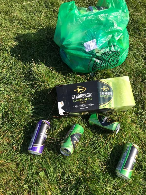 Found all this rubbish on Aylestone meadows and one of the bags has a name and address which we've kept-89 Ashleigh Road, Leicester, LE3 0FD