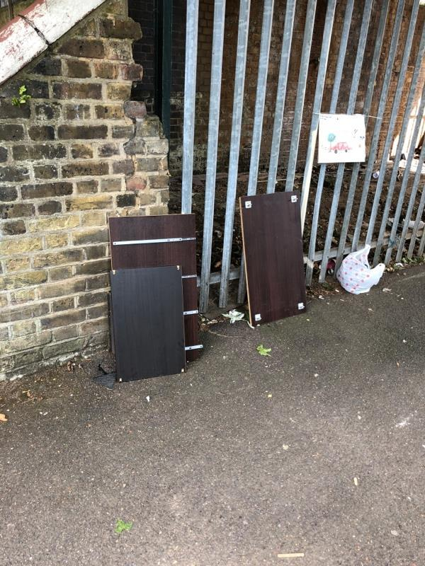 Fly tipping -9 Cranmer Road, London, E7 0JW