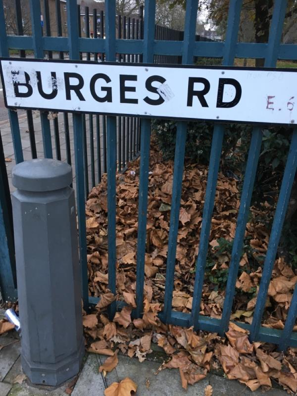 New street name needed! How are you meant to navigate around newham if you are unable to read road names! -375 Burges Road, East Ham, E6 2LP