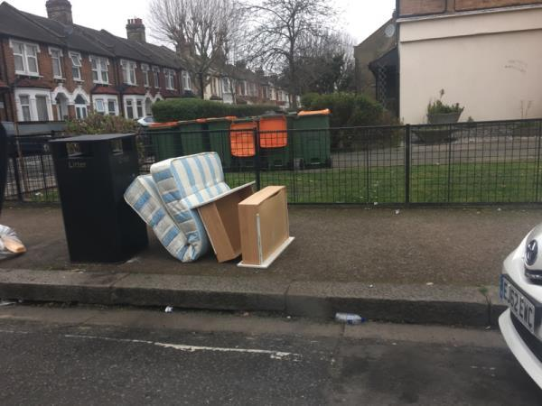 Dumped furniture -4 Henry Road, London, E6 3AH