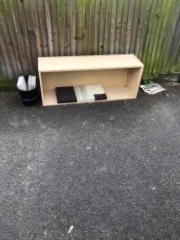 Please clear wooden unit-52 Belmont Park, London, SE13 5BN
