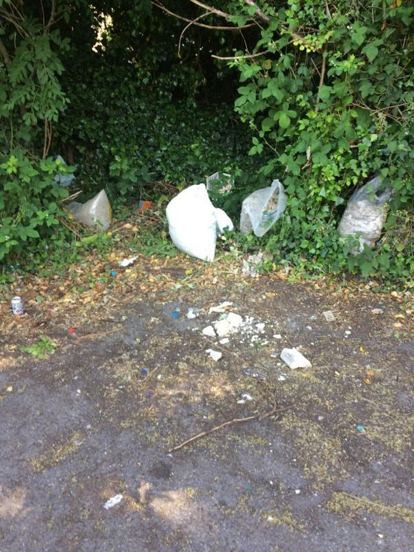 Fly tipping on edge of car park.-377 Norcot Road, Reading, RG30 6AB