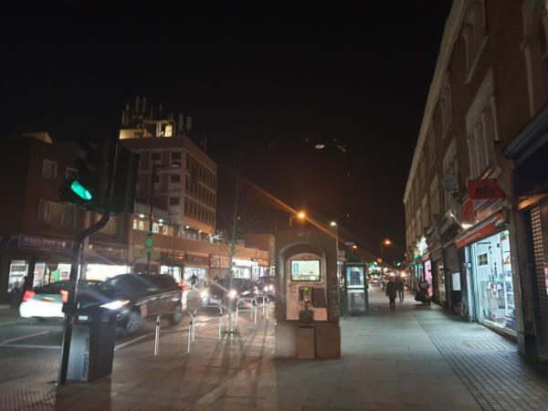 Street light out for many months-52b Woodgrange Road, London, E7 0QH