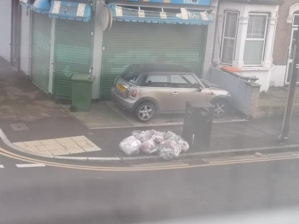rubbish dumped here for days -55b Frinton Road, London, E6 3EZ