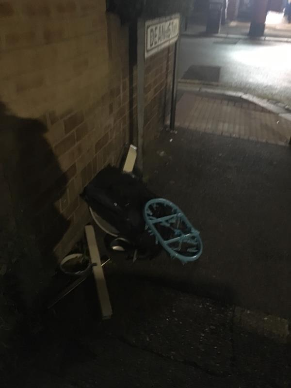 More rubbish flytipped by a resident of dean street. Daily occurrence -3 Dean Street, London, E7 9BJ