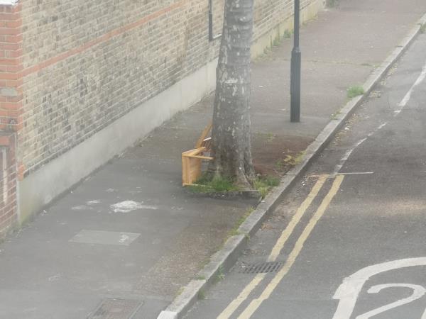 Chair dumped -55b Frinton Road, East Ham, E6 3EZ