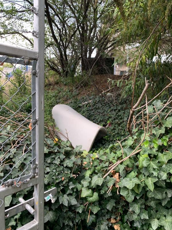 More fly tipping by the pathway image 1-29 Lord Street, North Woolwich, E16 2PX
