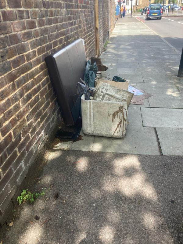 Flytipped rubbish-12 Romney Close, New Cross Gate, SE14 5JH