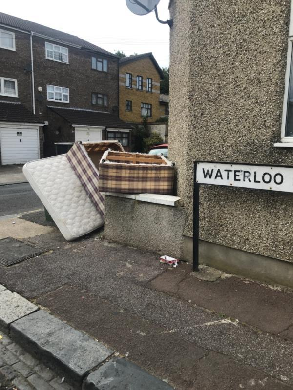 Second time reporting this HMO corner house at junction with Waterloo rd. constantly flytipped beds & about 5 bins on footpath. Total mess bringing the area down image 1-81 Tower Hamlets Road, London, E7 9DD
