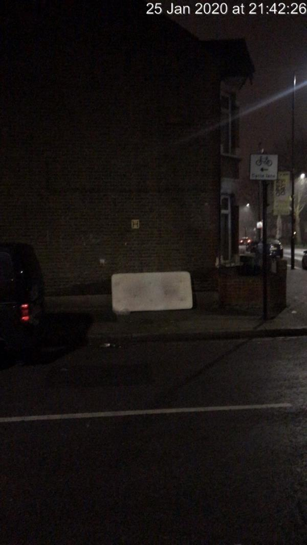 Mattress alongside 133 Prince Regent Lane E13-135 Prince Regent Lane, London, E13 8RY