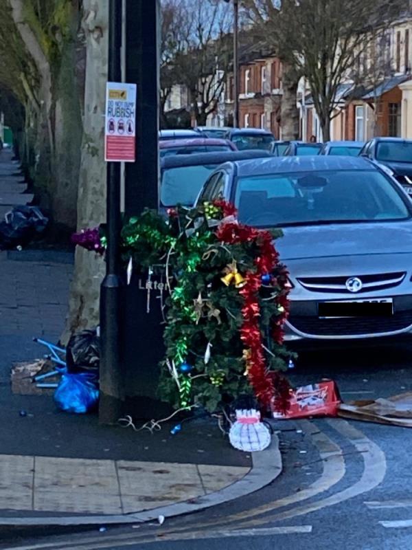 Christmas tree-189a Shrewsbury Road, London, E7 8QH