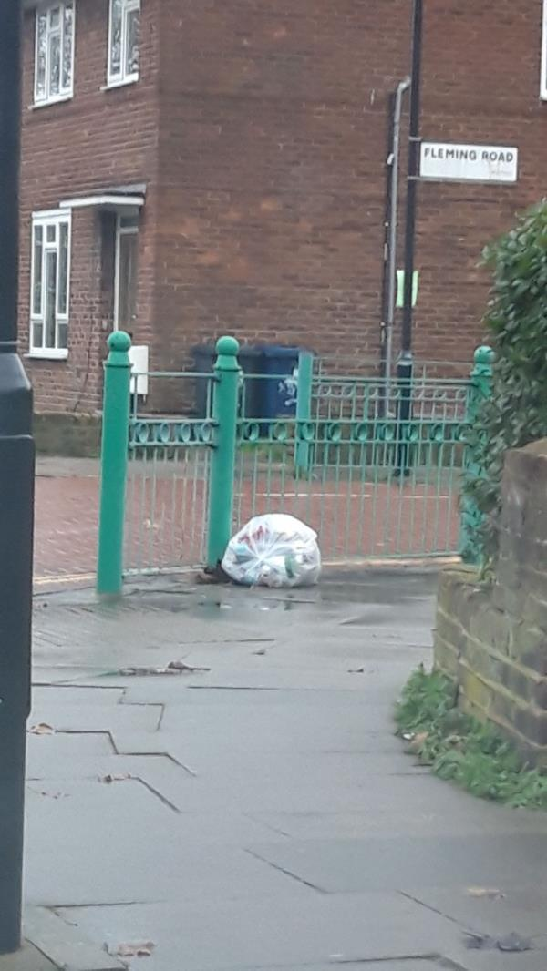 single bag near polling station, reported to D stannet-38 Darwin Dr, Southall UB1 3JX, UK