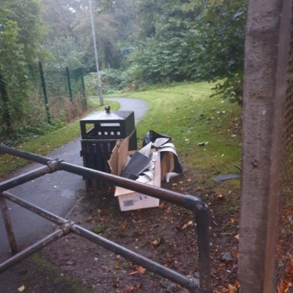 fly tipping in Dunstall Wood ent off Dunstall AVE. can we please have a no fly tipping sign-1 Morley Grove, Wolverhampton, WV6 0NG