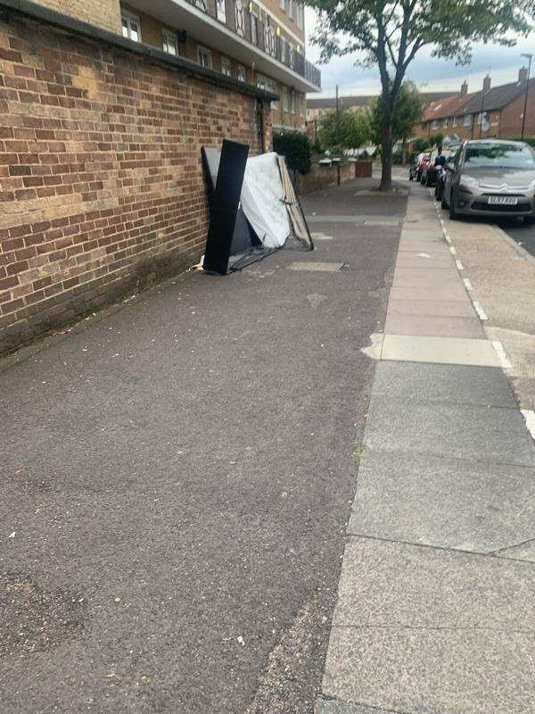 Loads of bulk needs picking up in kelland road on one end and further down all needs removing ASAP  image 1-10 Kelland Road, London, E13 8DS