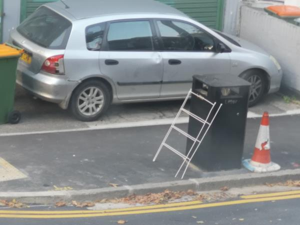 fly tipping by niegbours-55b Frinton Road, London, E6 3EZ