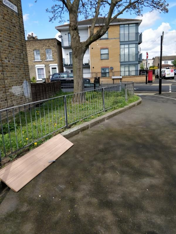 Flytipping at the corner of Ash and Buxton Road E15-10 Hatfield Road, London, E15 1QX