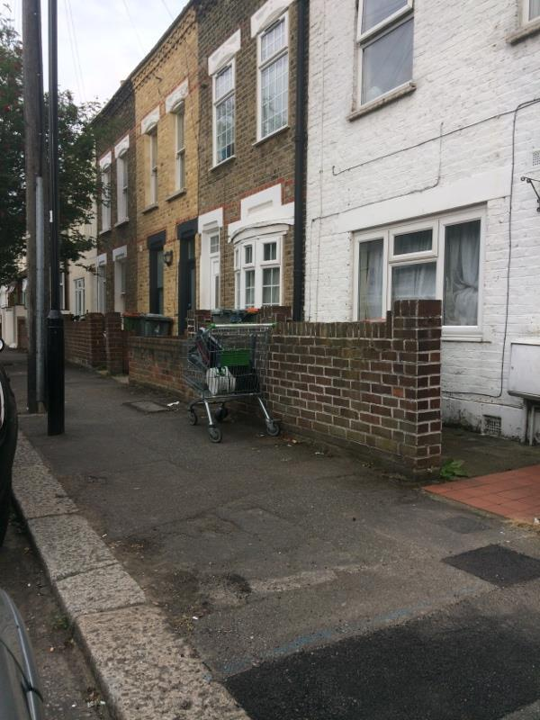 Fly tipping. Been there for about a month. Was previously in the front garden of no.32-39 Trevelyan Road, London, E15 1SU