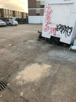 the fly tipping is attracting antisocial behaviour. many individuals come here to do drugs etc.  image 1-10 Beatrice Close, Plaistow, E13 8EE
