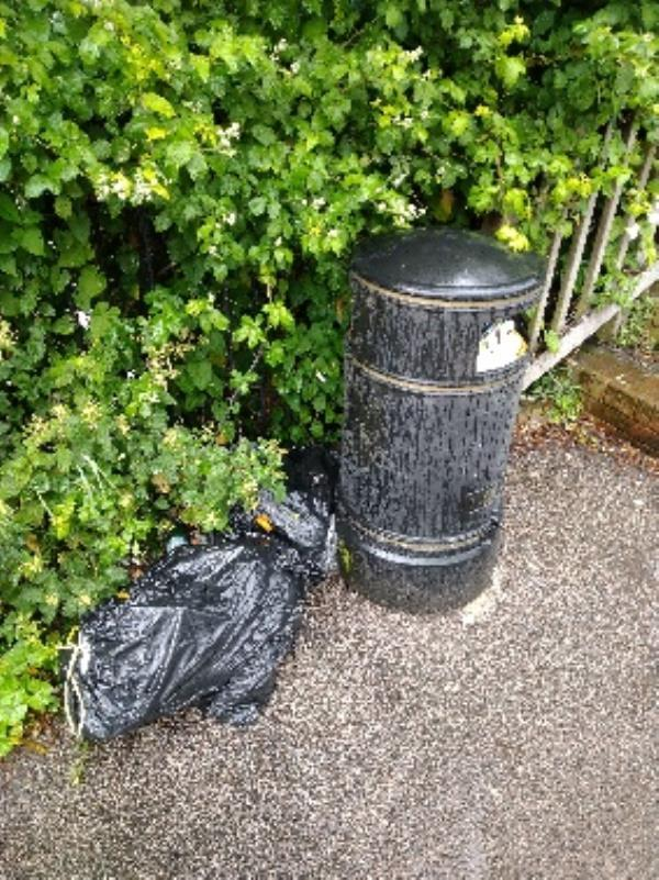 Flytipped bags on going problem! No evidence /taken -2 Garnet St, Reading RG1 6BA, UK