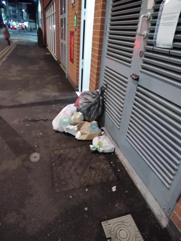Fly-tipping outside Blenheim Court-2 Church Street, Leicester, LE1 1QA