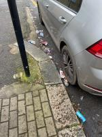 KFC rubbish and gin and tonic cans all over the street again.  image 2-21 Smiths Yard, Wandsworth, SW18 4HR