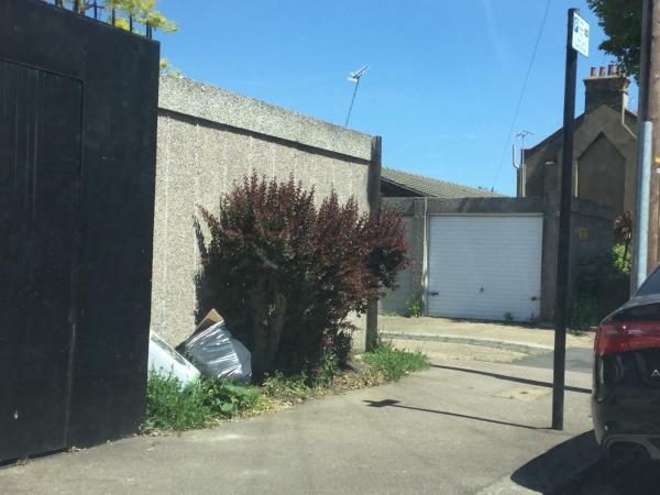Opposite 69 Hollington rd before the garage area and on the public highway -27 Sandford Road, London, E6 3QH