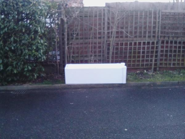Single wardrobe dumped by edge of road against hedge opposite No6 Britton Close. Previously reported early Feb. Love Lewisham Map showing report is closed.  Wardrobe still there as of 22nd Feb. -6 Britton Close, London, SE6 1AP