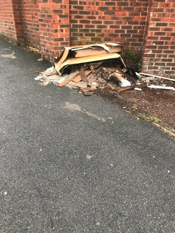 Dumped rubbish -Creighton Avenue Muswell Hill, London N10 1NW, UK