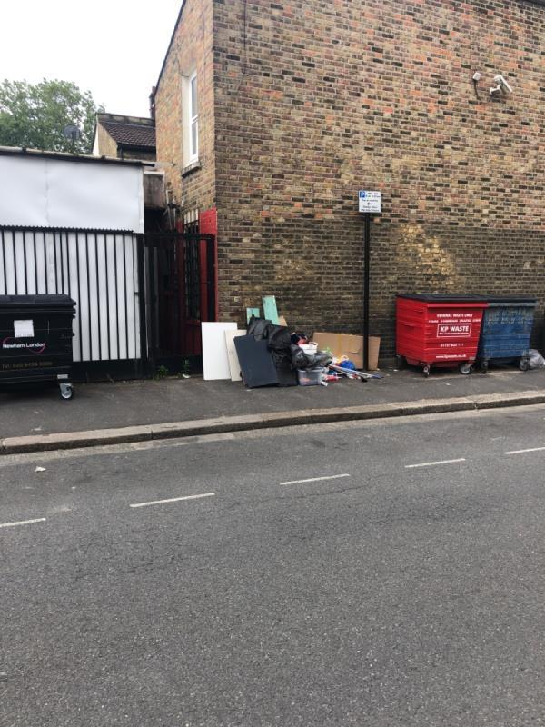 Stuff dumped in the street-2 Faringford Road, London, E15 4DW