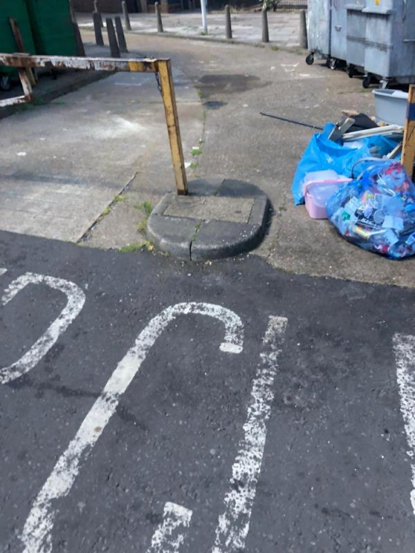 Large amounts of household rubbish -Castle Point Boundary Road, London, E13 9PW