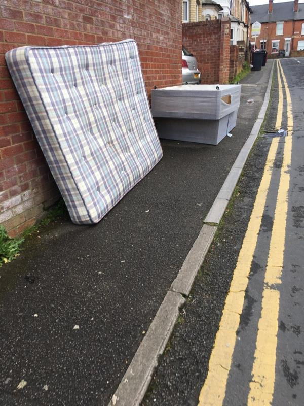 Dumped bed and mattress-5 West Hill, Reading, RG1 2PN