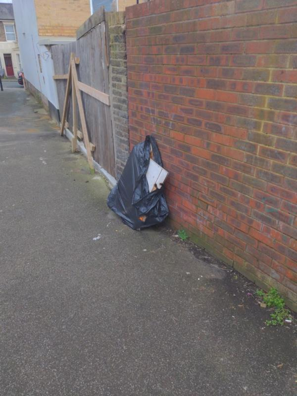 Flyefit items in alleyway between forord road and harford Road-37 Thornford Road, London, SE13 6SG