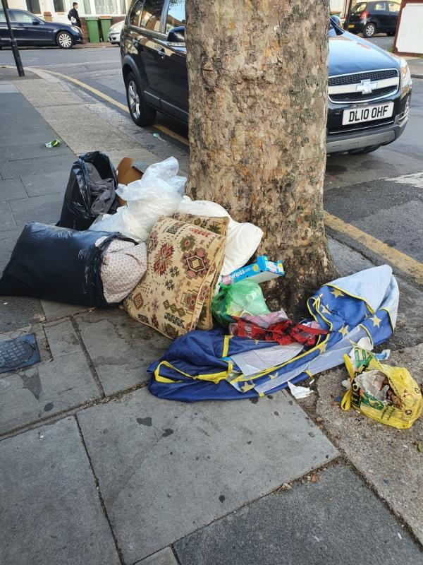 household rubbish left out-40 Lansdown Road, Upton Park, E7 8NE