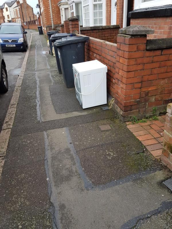 Fly tipped appliance close to our house-88 Knighton Lane, Leicester, LE2 8BE