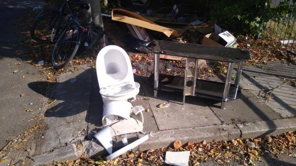 new material added to existing flytip-45 Osterley Park Road, London, UB2 4BN