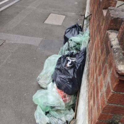 Someone has moved rubbish that was left on the road and fly tipped it outside my house.-152 Chatsworth Road, London, E5 0LT
