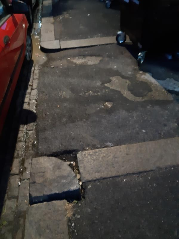 Trip Hazard Side / Rear of No 22-22 Vicarage Lane, London, E15 4ES