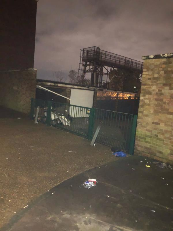 Fly tipping and drug paraphernalia (laughing gas) -65 Forest View Road, London, E12 5HU