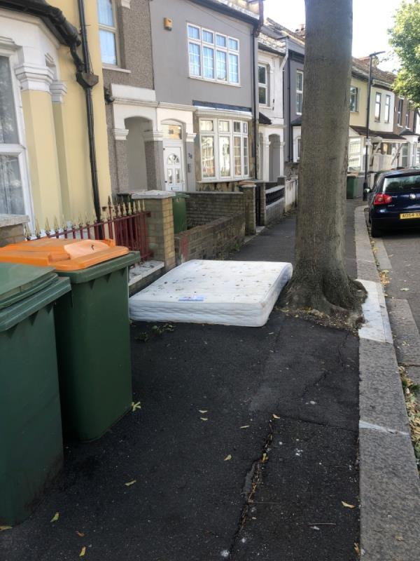 Mattress left in street -34 Reginald Road, London, E7 9HS