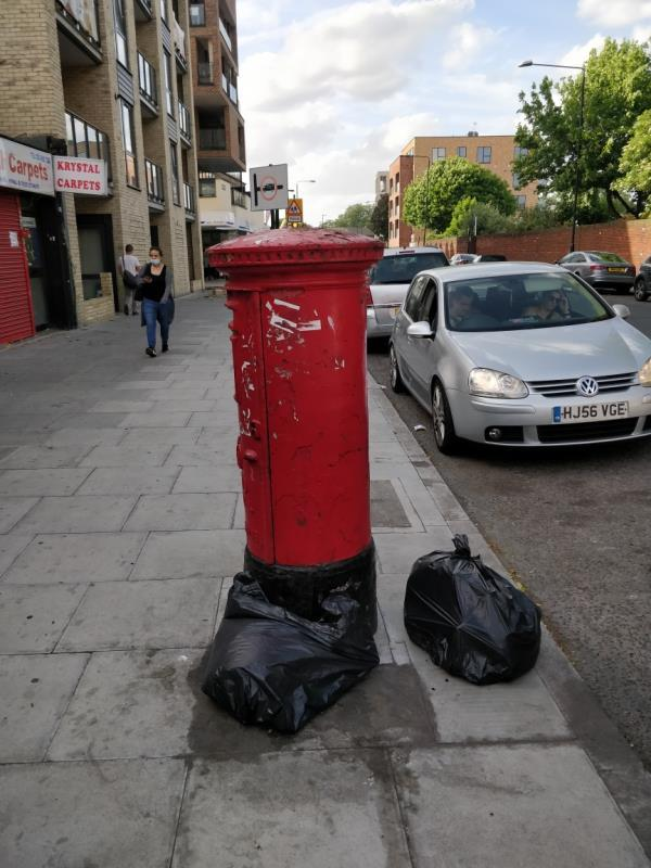 Flytipping beside 85 Leytonstone Road E15-85a Leytonstone Road, London, E15 1JA
