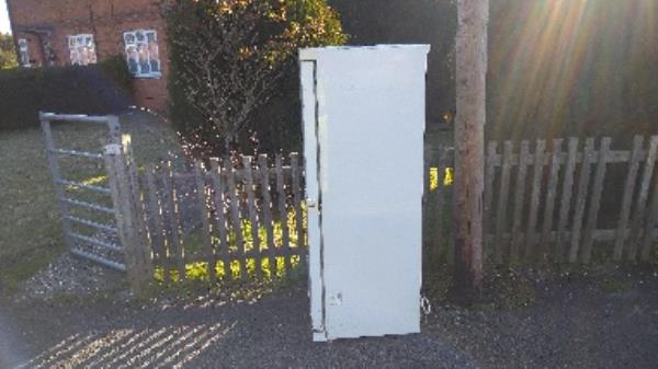 A paid collection or flytipped fridge? Been here for a few weeks if a flytipped  fridge will need a two man lifted -2 Blandford Road, Reading, RG2 8RD