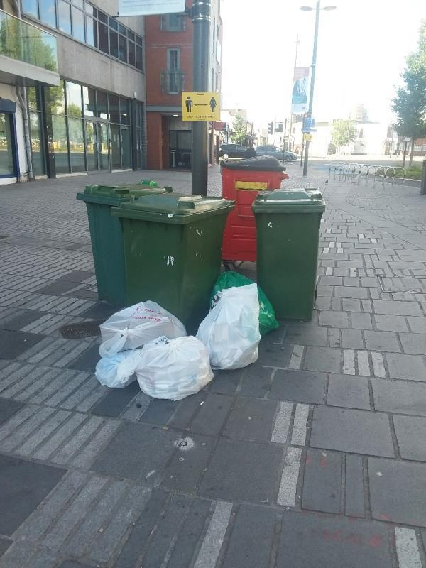 litter left at this location-122 The Grove, London, E15 1EL