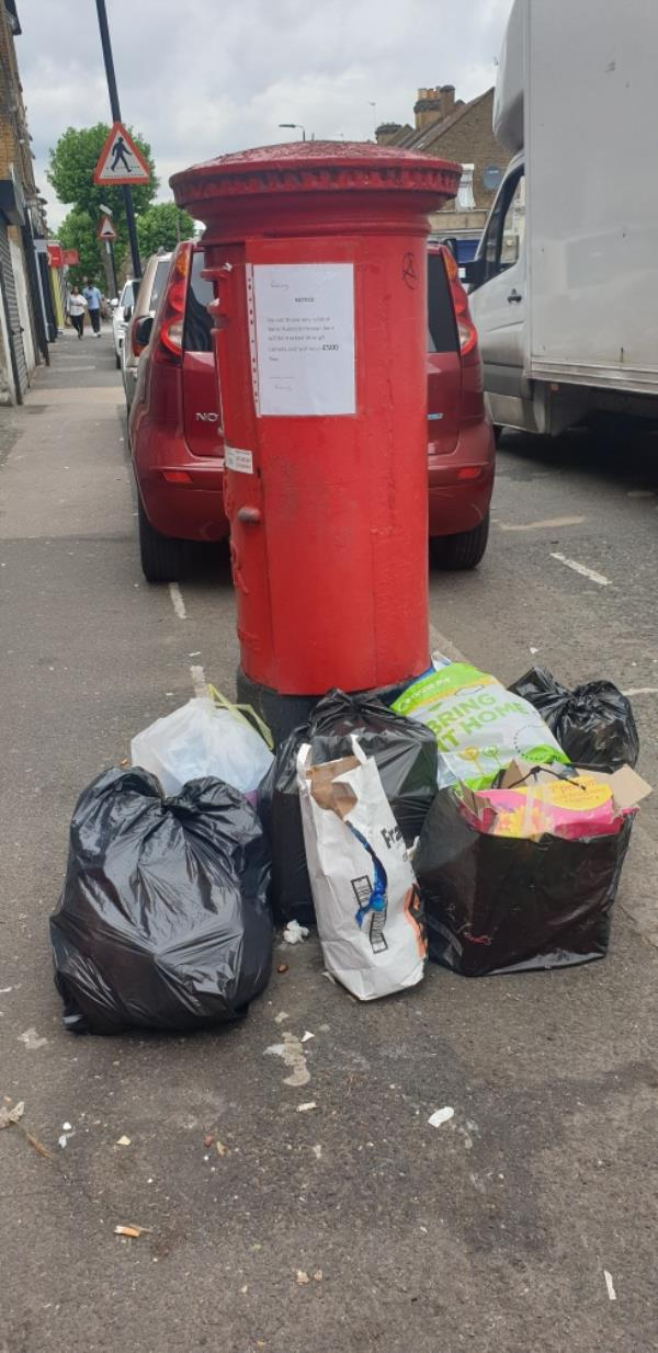 Fly tipping -101a Katherine Road, East Ham, E6 1EN