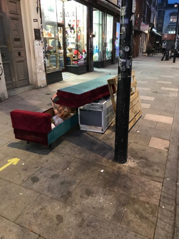 Sofa , fridge -11 Deptford High Street, London, SE8 4AF