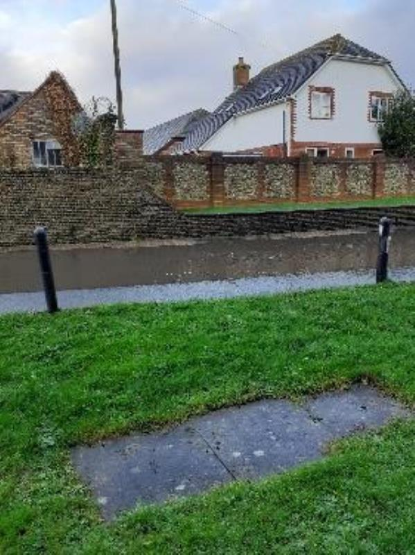 Repeated flooding sometimes over the pavement-5 The Croft North End Road, Arundel, BN18 0HZ