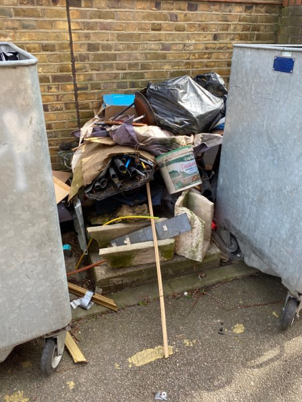 Fly tip in the ally way of baldwin house-Baldwin House 2b Watson Avenue, East Ham, E6 2DA